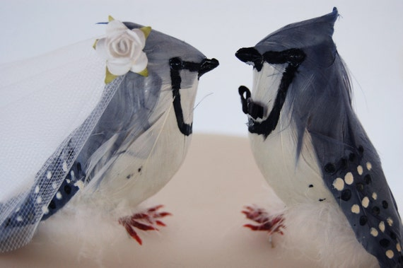 Local Pick Up RESERVED for Nick Bluejay Love Birds Wedding Cake Topper