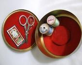 Vintage Brass Sewing Kit