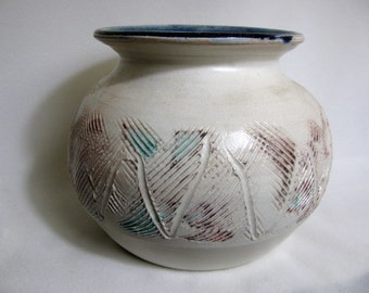 Salt Fired Porcelain Vase or Vessel RKC059