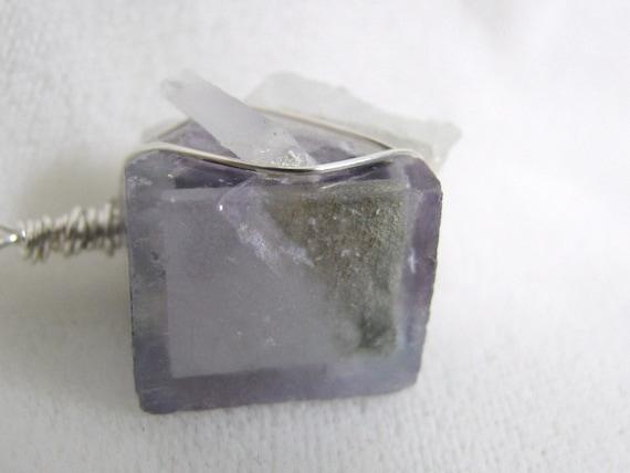 Amazing Fluorite Cube Pendant RKMixables RKS33