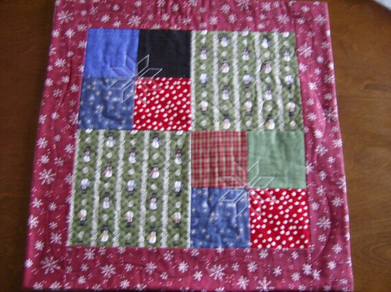 Winter Snowmen Table Quilt   CLEARANCE
