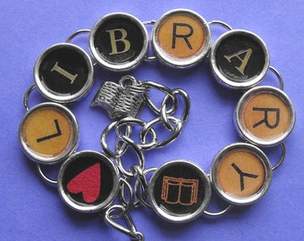 Library Love Bracelet Readers Literary Themed Jewelry