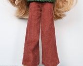 SALE - Blythe Pants - RUST ORANGE Cords