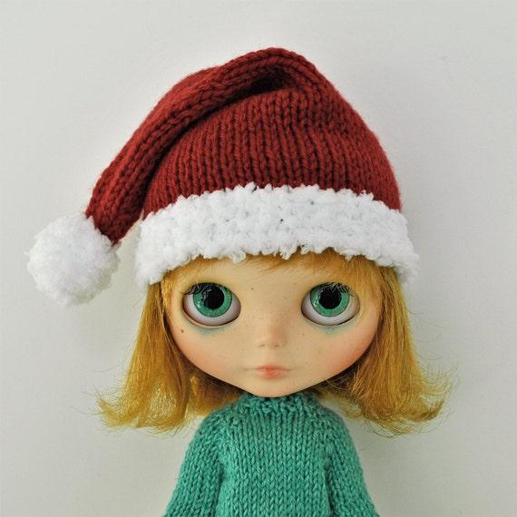 Blythe SANTA HAT - Knitted