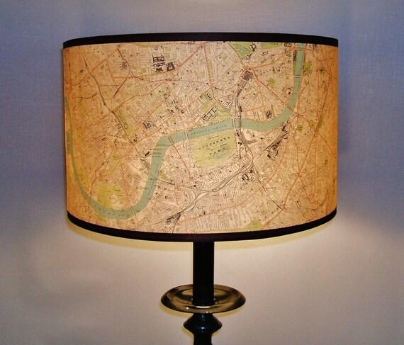 London city map lamp shade
