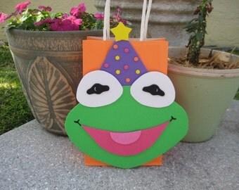 Kermit the Frog Muppets Sesame Street Inspired Gift Favor Party Bag