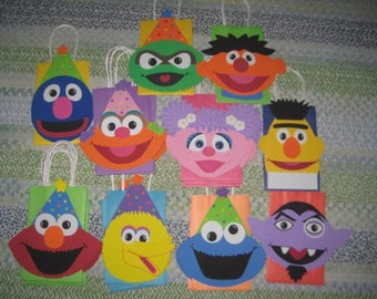 READY TO SHIP - Almost! - Sesame Street Inspired Party Bags