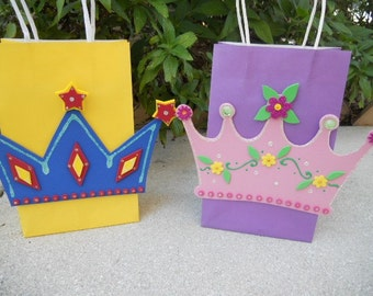 Princess or Prince Crown Favor Party Bags