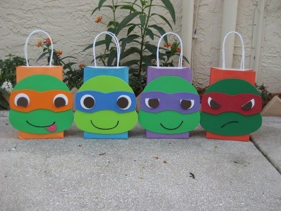Ninja Turtles Inspired Birthday Party Favor Bag