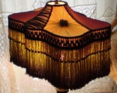 Final Payment for HillbillyLulaShop  ONLY   SALE Luxe Victorian, Edwardian, Flapper Silk Lamp Shade by Filigreelamps
