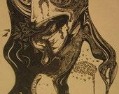 Genie in Contortion (Original Artwork)