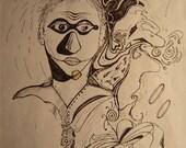 Mask of Free Energy (Original ArtWork)
