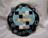 Fitting A Square Peg In A Round Hole In The Wall (Upcycled Decor)