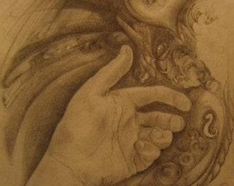 Striation of the Dove (Original Artwork)