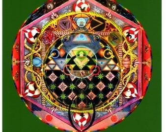 The Harmonic Spheres Giclee Print (Original ArtWork)