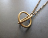 Orbital - LAST ONE - Brass Necklace with Vintage Orb Pendant