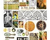 Art Journal Page Fun Digital Collage Print Sheet no181
