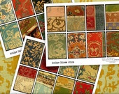 Chinese Prints ATC-ACEO Digital Collage Sheets no247