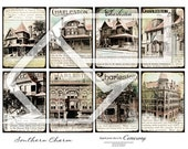 Victorian Houses ATC -ACEO Digital Collage Sheet no249