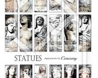 Statues  Digital Collage Print Sheet no79