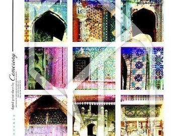 Russian Mosaic Digital Collage Print Sheet no101