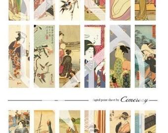 Asian Women Digital Collage Print Sheet no23