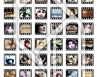 Filmstrip Digital Collage Print Sheet no77