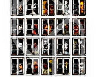 Halloween , 1x1,5 inch windows Digital Collage Print Sheet no130
