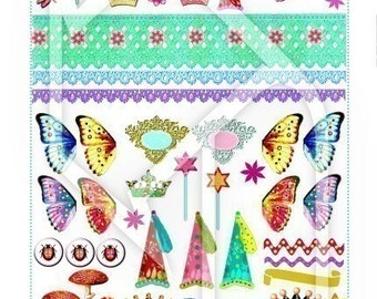 Fairythings Digital Collage Print Sheet no165
