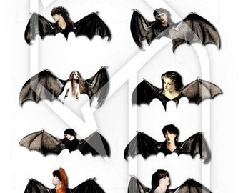 Halloween Wings... Digital Collage Print Sheet  no136