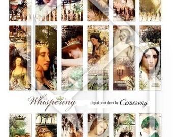 Women Altered Art Digital Collage Print Sheet no62