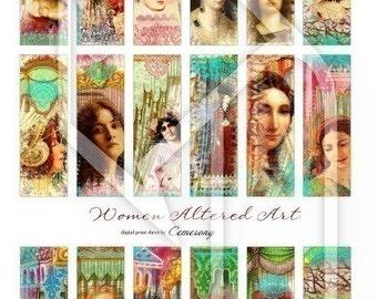 Women Altered Art Digital Collage Print Sheet no109