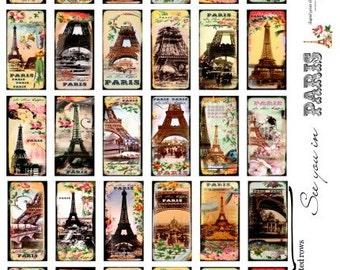Paris - Eiffel Tower Digital Collage Sheet no216