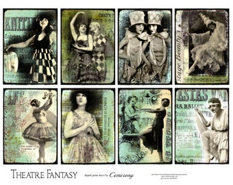 Theatre ATC - ACEO Digital Collage Sheet no253