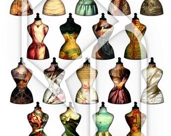 Dress Form Altered Art Digital Collage Sheet no258
