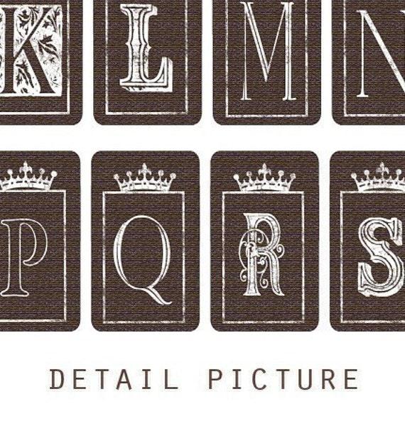 1,5 x 4/5 inch Small Tags Alphabet Digital Collage Print Sheet no97