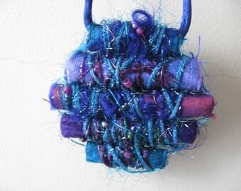 Funky Fabric Fiber Pendant -- Ocean