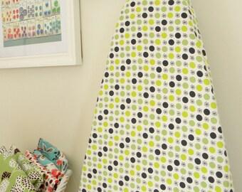 Ironing Board Cover - Flea Market Fancy - Flower and Dot in Green