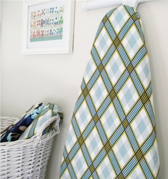 LAST ONE - Ironing Board Cover - Picnic Plaid in Pond