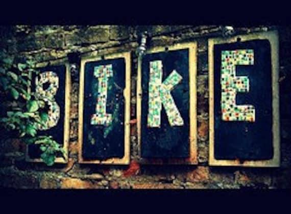 Travel Photography, Parking Sign, Bike, London, Travel, Color, 11 x 14, Fine Art Photography