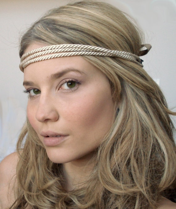 the ropey - Twisted Strand Headband in Ivory - Free Worldwide Shipping