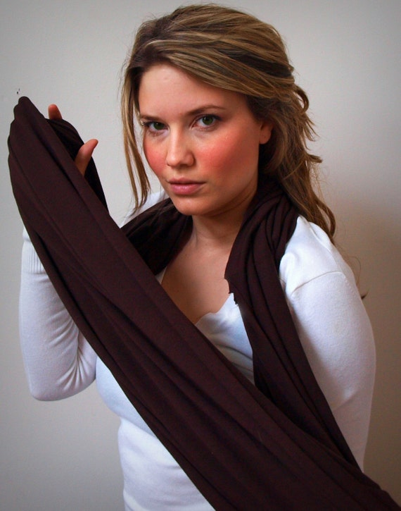 the mandizzle forever scarf - Cut D in Chocolate - Free Worldwide Shipping