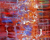 Original Modern Art Abstract Plaster Painting  - Sparks - 16x20