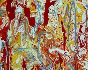 Original Abstract Painting Modern Art   - Pangeia - 16x20