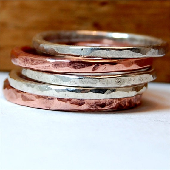 Just Enough Stacked Rings - set of 5