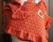 Scarf Knitting Pattern - Rococo Shawl Tutorial - PDF Electronic Delivery - Shawl Knitting Pattern