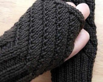 KNITTING PATTERN / Fingerless Gloves Knitting Pattern / Unisex Knitting Pattern / Mitts Gloves Knitting Pattern / PDF Download, Hygge