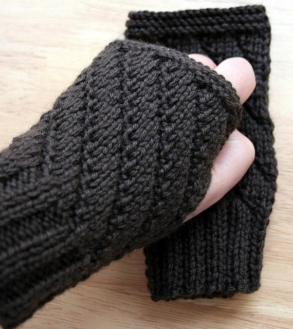 Knitting Pattern Of Gloves : KNITTING PATTERN / Fingerless Gloves Knitting Pattern / Unisex