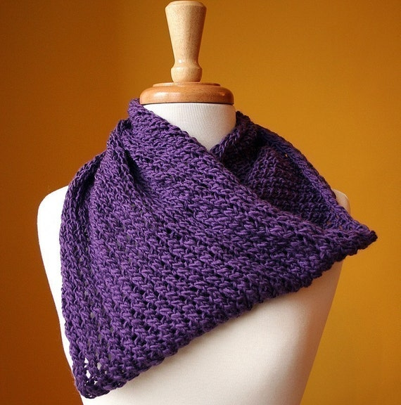Circle Scarf Knitting Patterns : Infinity Circle Scarf Knitting Pattern - Snood Loop - Bridget Cowl Knitting P...
