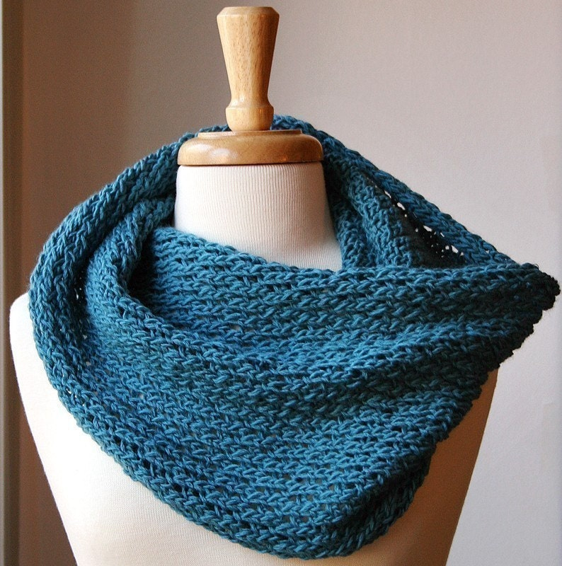 Snood Pattern Knit : Infinity Scarf Knitting Pattern Bridget Cowl / Snood / Scarf